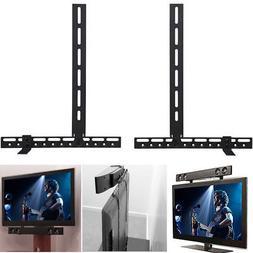 Universal Steel Sound Bar Speaker Bracket Mount Above Or Und