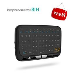 Puhong USB Wireless Flat Chargable Keyboard black with White