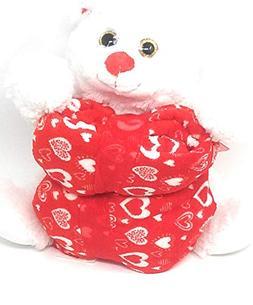 Valentine's Day Kids Teens Red and White Plush Stuff Teddy B