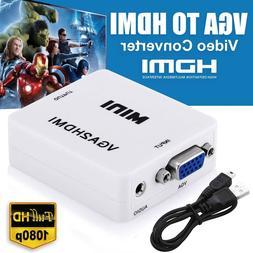 VGA to HDMI Female Full HD 1080P Video Converter Adapter Box