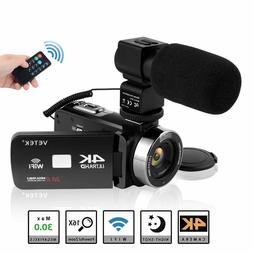 Video Camera Camcorder, VETEK 4K Ultra HD Vlog Camera for Yo