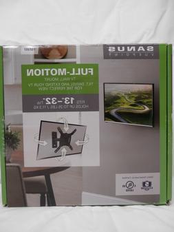 """SANUS VuePoint Full-Motion TV Wall Mount For 13""""-32"""" TVs New"""
