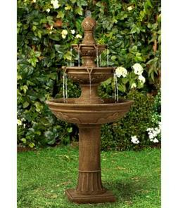 Outdoor Tiered Fountain Waterfall Cascading 3-Tier Tall 50 i