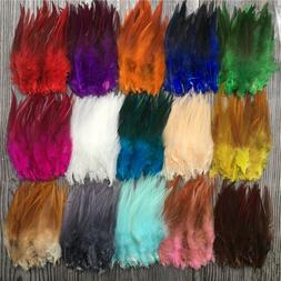 Wholesale!50/1000pcs beautiful high quality rooster feathe