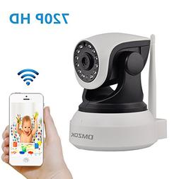 DMZOK 720P WiFi Security Camera, IP Camera, Night Vision, Tw