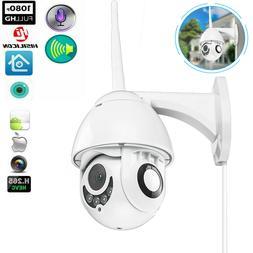 Wireless 1080P HD WiFi 5X ZOOM CCTV Outdoor IP Camera Home S