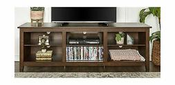 "WE Furniture 70"" Wood Media TV Stand Storage Console - Tradi"