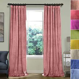 ChadMade 50W x 96L Inch Soft Premium Velvet Curtain Drapery