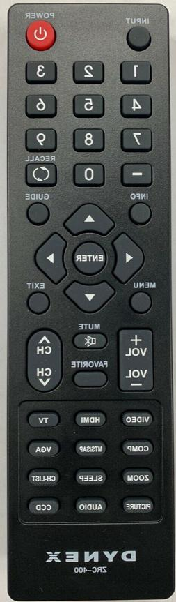 Dynex ZRC-400 LCD TV Remote Control DX-15L150A11, DX-22L150A